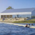 Veelauakeskuse Wpark terrass Kamari järve kaldal